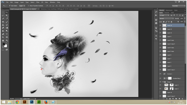 Create A Dark Abstract Crow Manipulation Step - 1