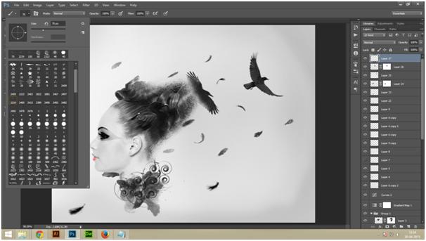 Create A Dark Abstract Crow Manipulation Step - 12