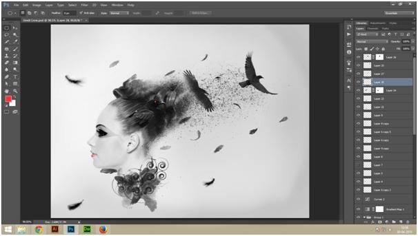 Create A Dark Abstract Crow Manipulation Step - 13