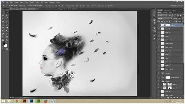 Create A Dark Abstract Crow Manipulation Step - 2