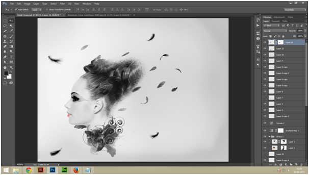 Create A Dark Abstract Crow Manipulation Step - 4 a