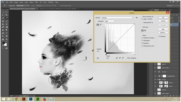 Create A Dark Abstract Crow Manipulation Step - 4