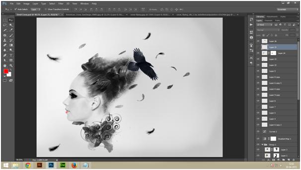 Create A Dark Abstract Crow Manipulation Step - 5