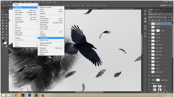 Create A Dark Abstract Crow Manipulation Step - 6