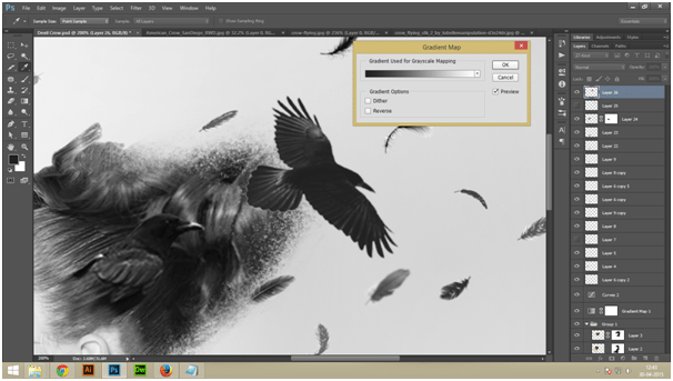 Create A Dark Abstract Crow Manipulation Step - 7
