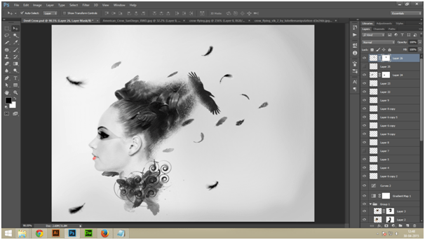 Create A Dark Abstract Crow Manipulation Step - 8