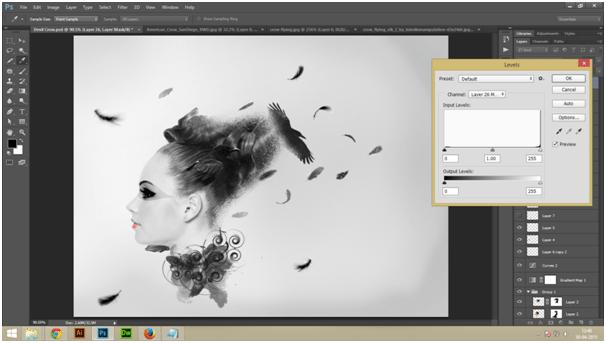 Create A Dark Abstract Crow Manipulation Step - 9