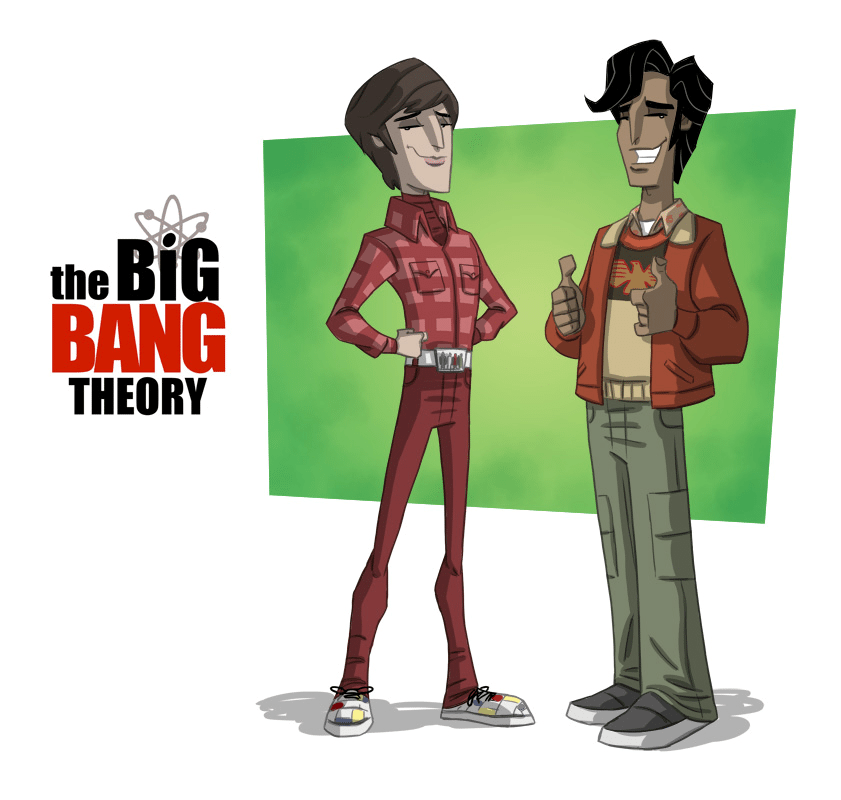 Raj & Howard Big Bang Theory t-shirt designs