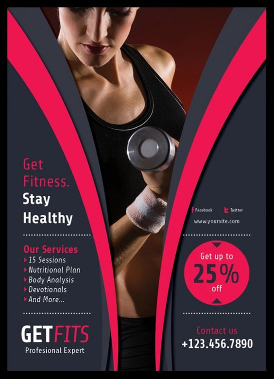 Fitness flyer design