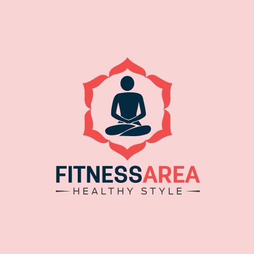 Fitness area logo design