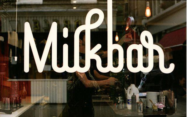 Milk Bar Identity Signage Design