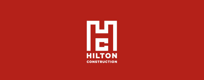 Hilton Construction Logo Design