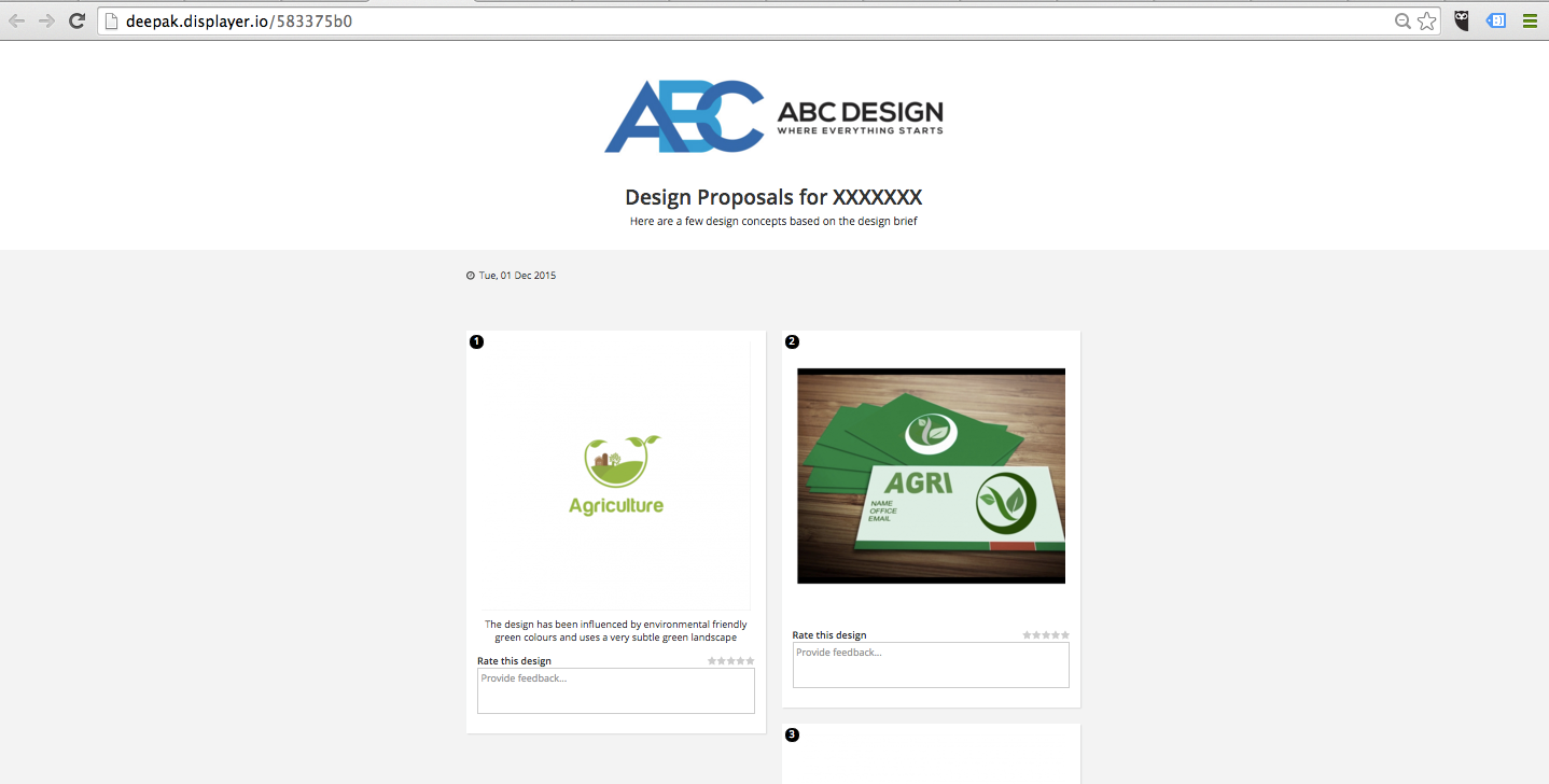 description and designs