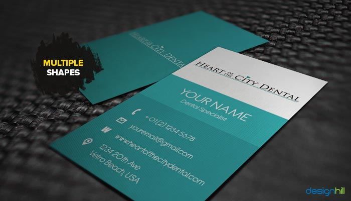 Top 5 business card design trends that will dominate the scene in 2016 moreover a new shape also is a way to give upscale look to the card and also to the business the designers are experimenting with shapes when it comes to reheart Image collections
