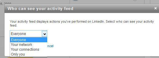 linkedin activity feed