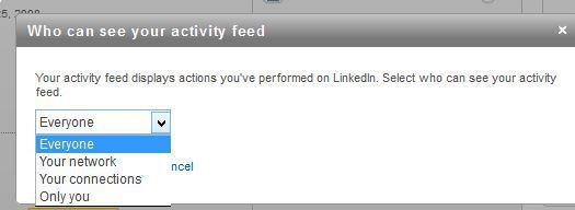linkedin activity feed