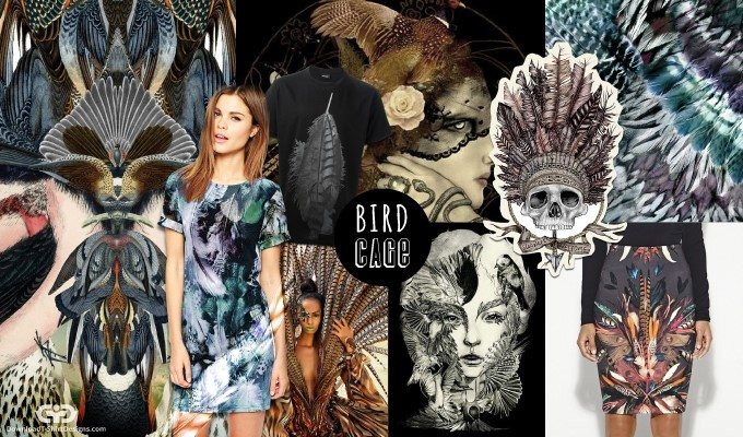 Use of Bird Elements in T-Shirt Designs