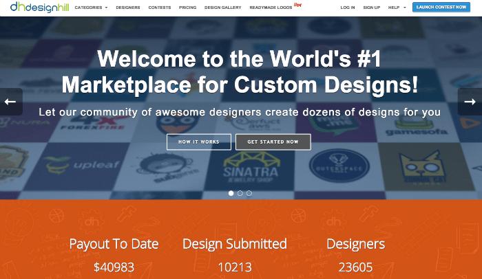Designhill - crowdsourcing website