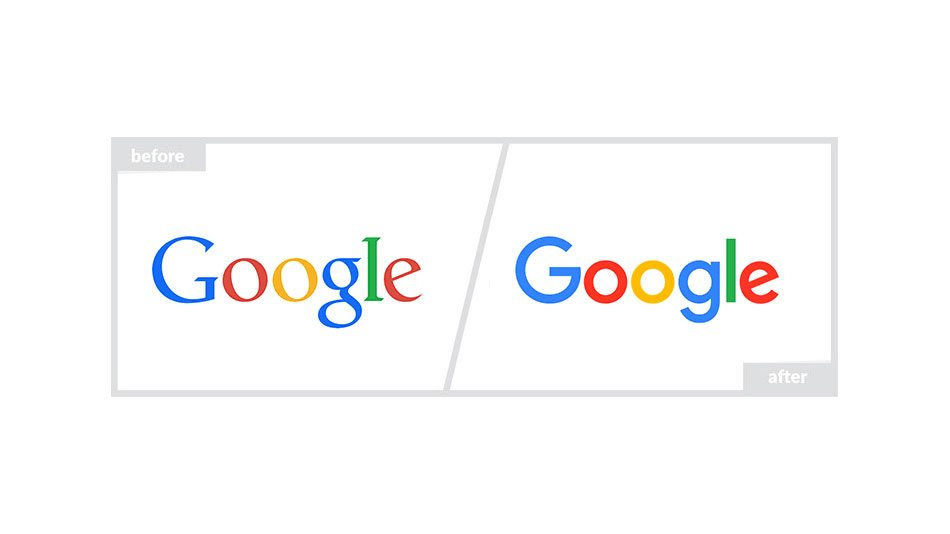 Google Logo - Before & After