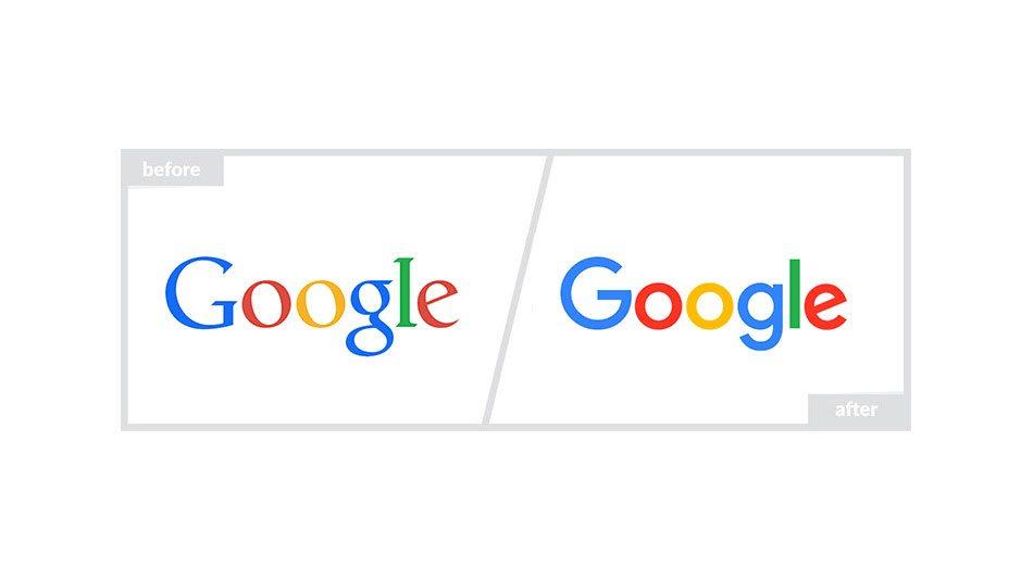 Google Logo - Before & After