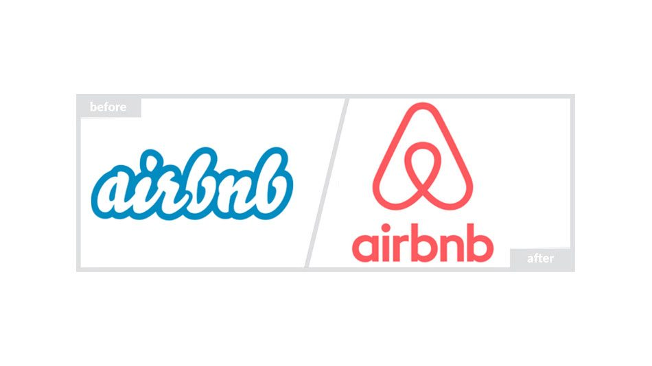 Airbnb Logo - Before & After