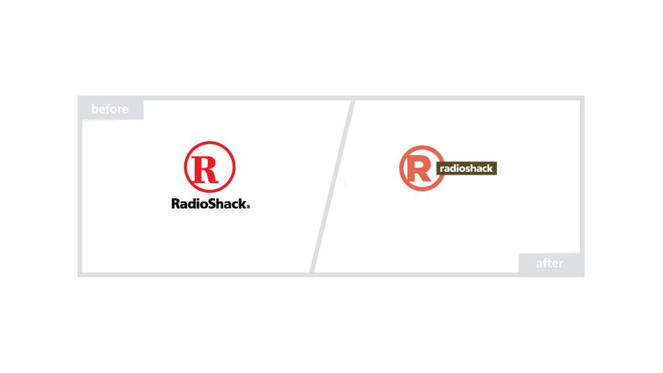 RadioShack Logo - Before & After