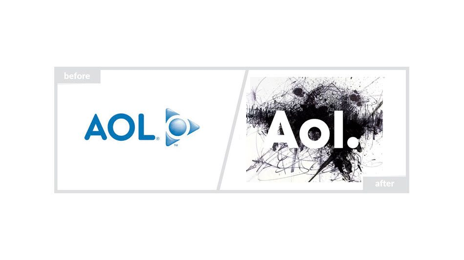 Aol Logo - Before & After