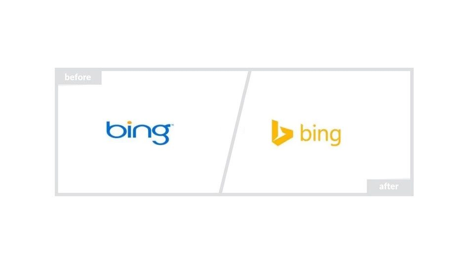 Bing Logo - Before & After