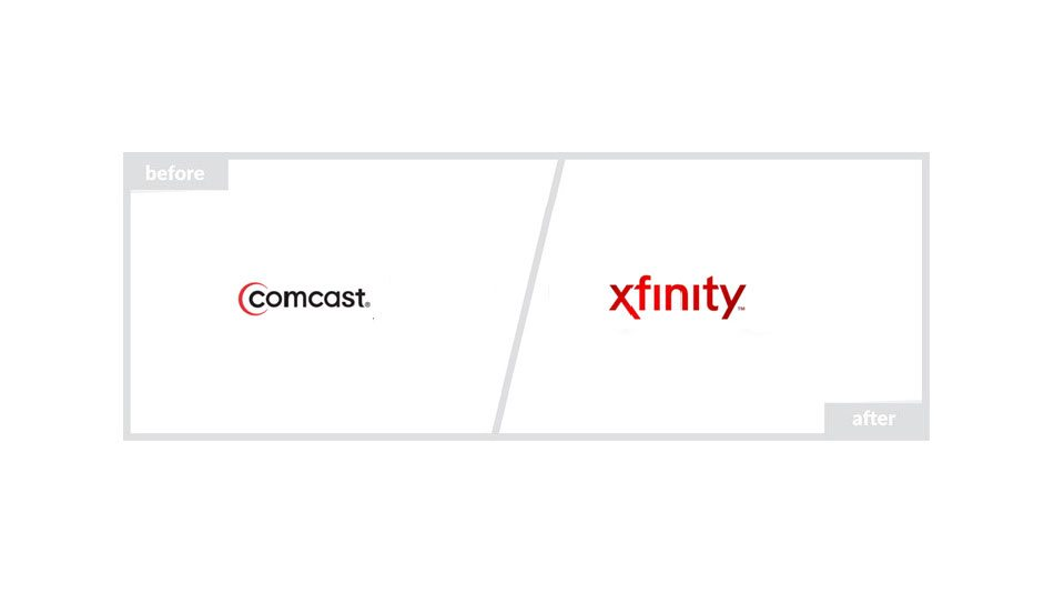Xfinity Logo - Before & After