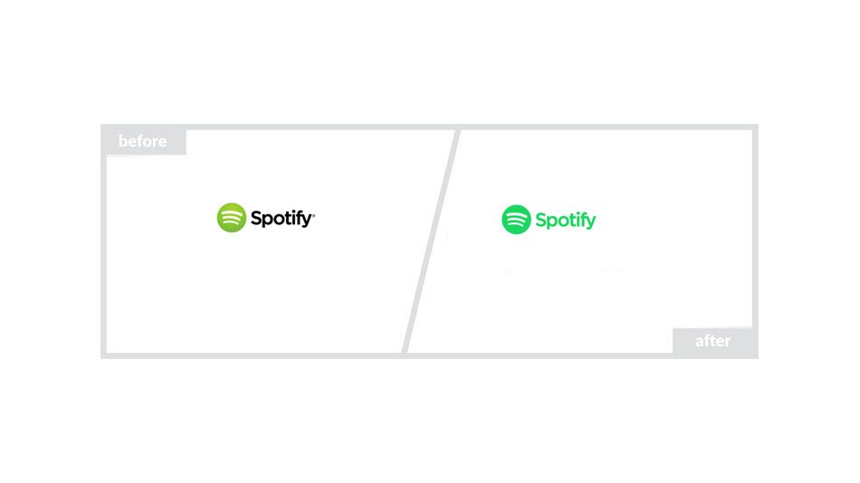 Spotify Logo - Before & After