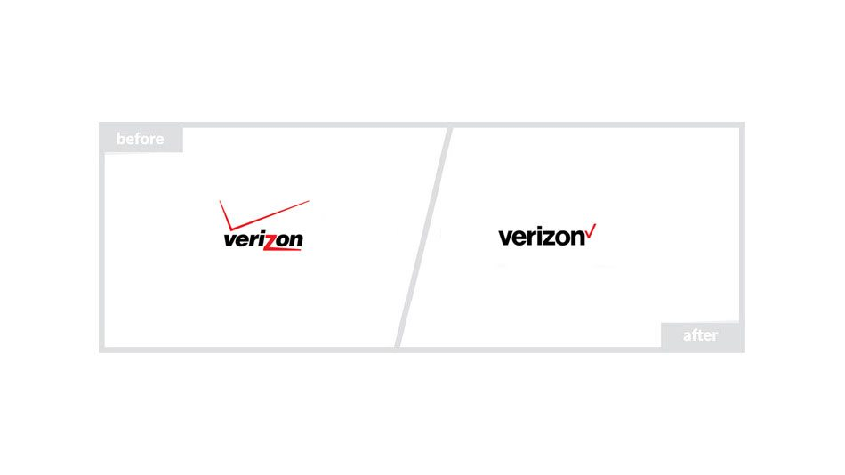 Verizon Logo - Before & After