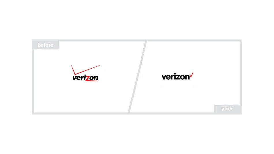 Verizon Logo - Before & After