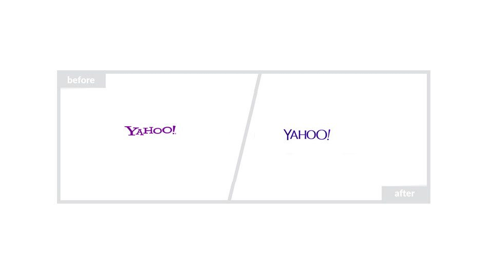 Yahoo Logo - Before & After