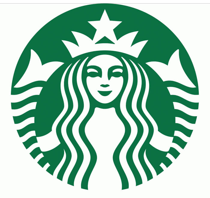 Image result for starbucks logo white
