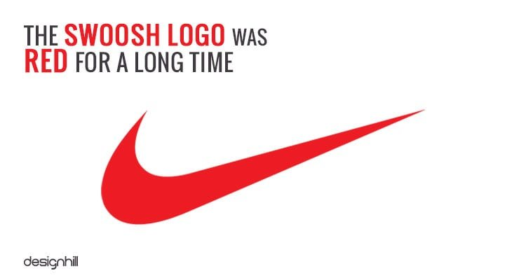 Later, the company changed the color scheme of its 'Swoosh' logo to make it sleek and classy.