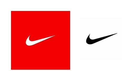 nike logo in red color