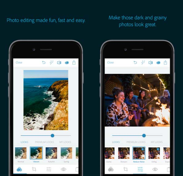 Adobe Photoshop Express IOS App
