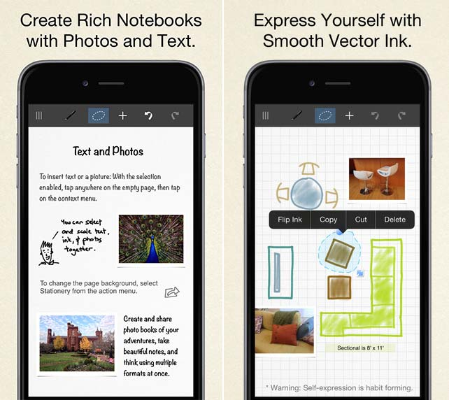 Inkflow visual notebook app