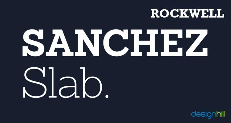 Rockwell logo font