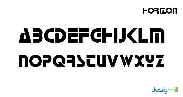 Horizon logo font