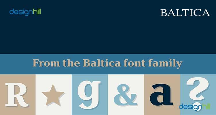 Baltica logo font