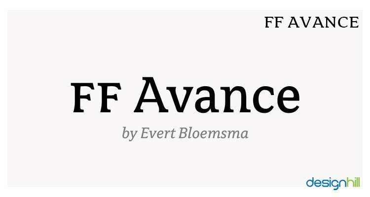 FF Avance logo font