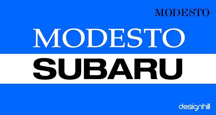 Modesto logo font
