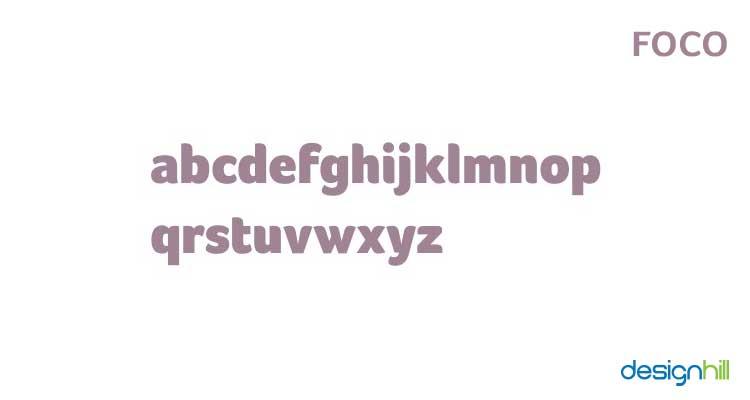 Foco logo font