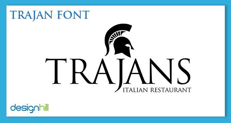 Trajan logo font
