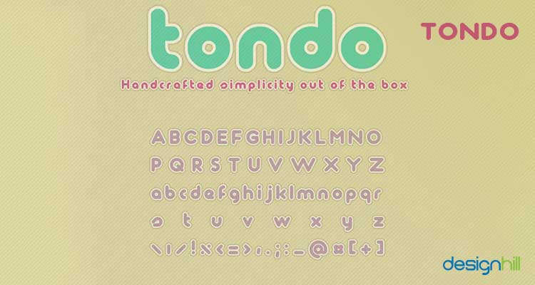 Tondo logo font