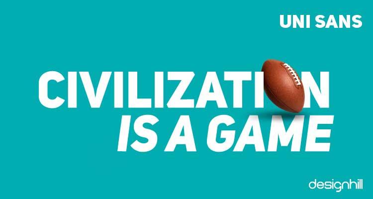 Uni Sans font logo