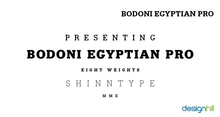Bodoni Egyptian Pro logo font