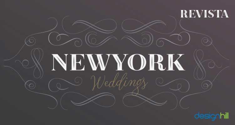 Revista logo font