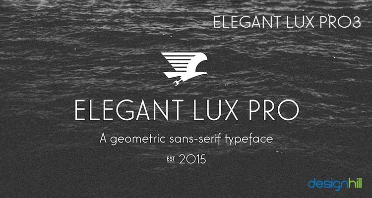 Elegant Lux Pro3 logo font